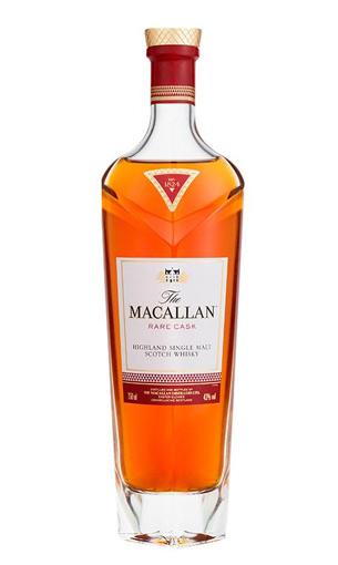 Vista frontal de una botella de Macallan de 70 cl