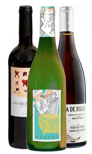 Pack vinos de Madrid: Las Retamas del regajal, Monroy blanco, Bruja de rozas